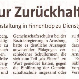 Lehrer werden nach Infoveranstaltung zum Dienstherrn nach Arnsberg zitiert