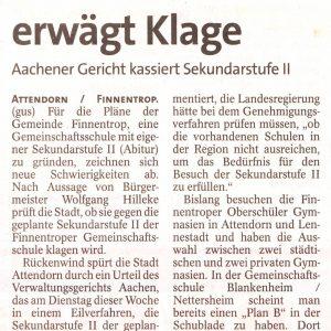 Bericht aus der WP/WR vom 17.02.2011