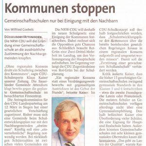 Artikel aus der Westfalenpost vom 03.03.2011