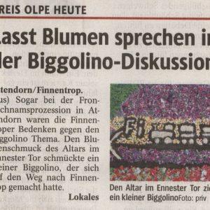 Biggolino-Blumenschmuck schafft es auf die Titelseite