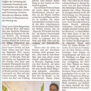 Artikel aus der WP/WR vom 16.07.2011