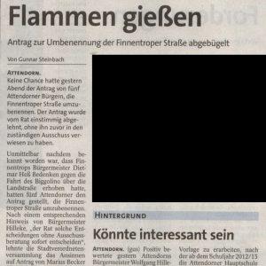 Artikel aus der WP/WR vom 21. Juli 2011